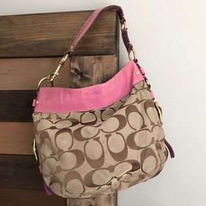 Coach Signature hobo shoulder handbag